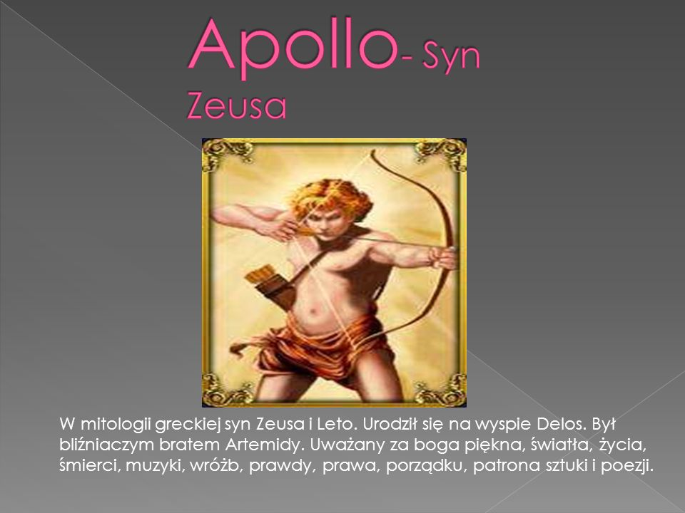 Apollo- Syn Zeusa