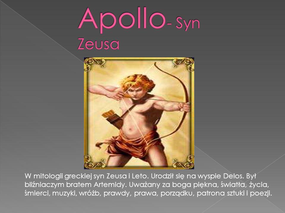 Apollo- Syn Zeusa
