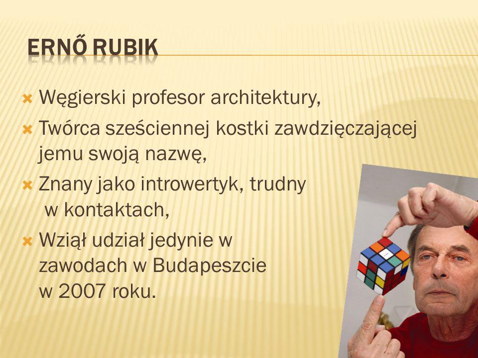 Ernő Rubik Węgierski profesor architektury,