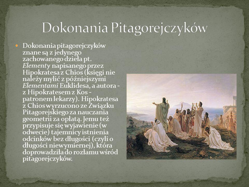 Dokonania Pitagorejczyków