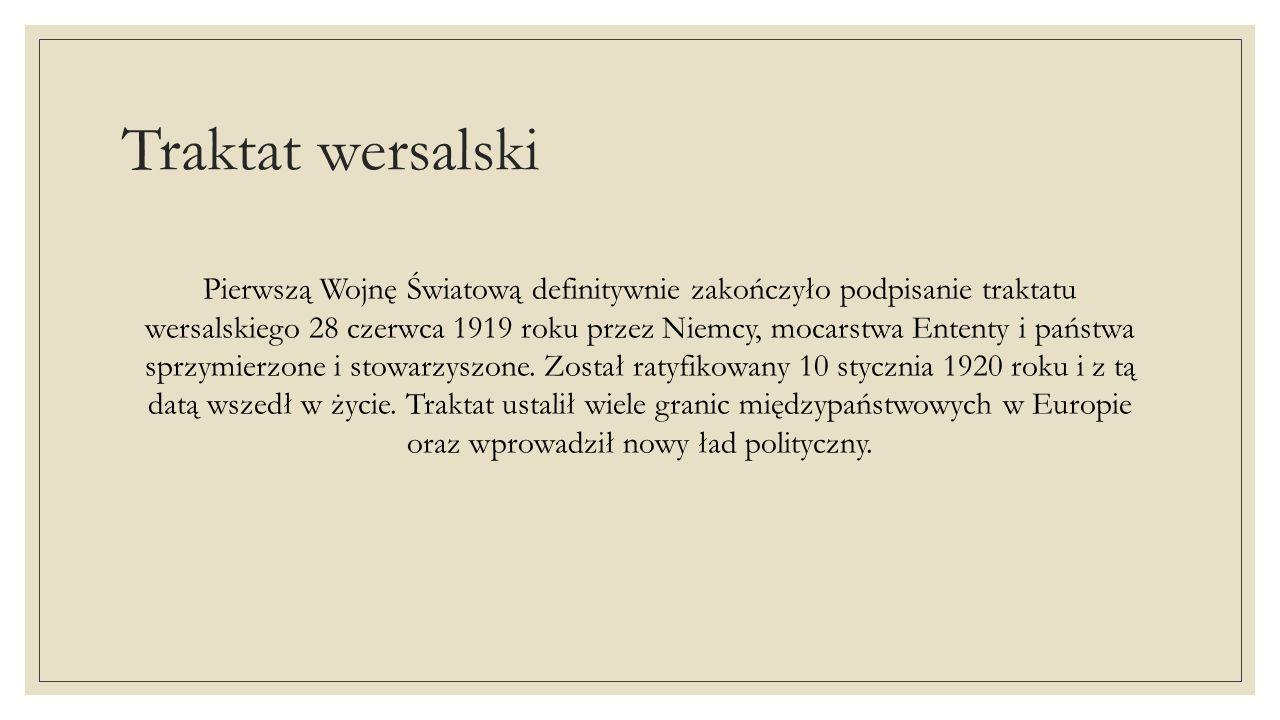 Traktat wersalski