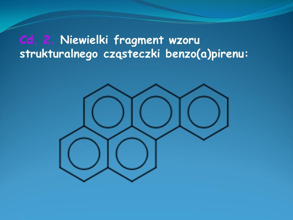 Cd. 2. Niewielki fragment wzoru strukturalnego cząsteczki benzo(a)pirenu: