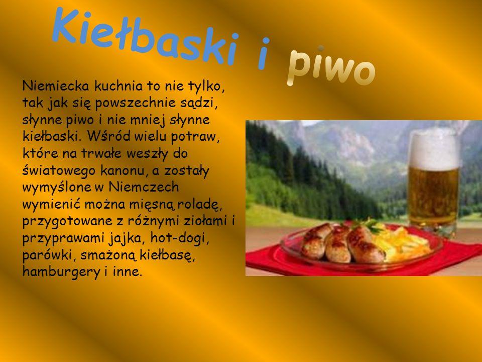 Kiełbaski i piwo