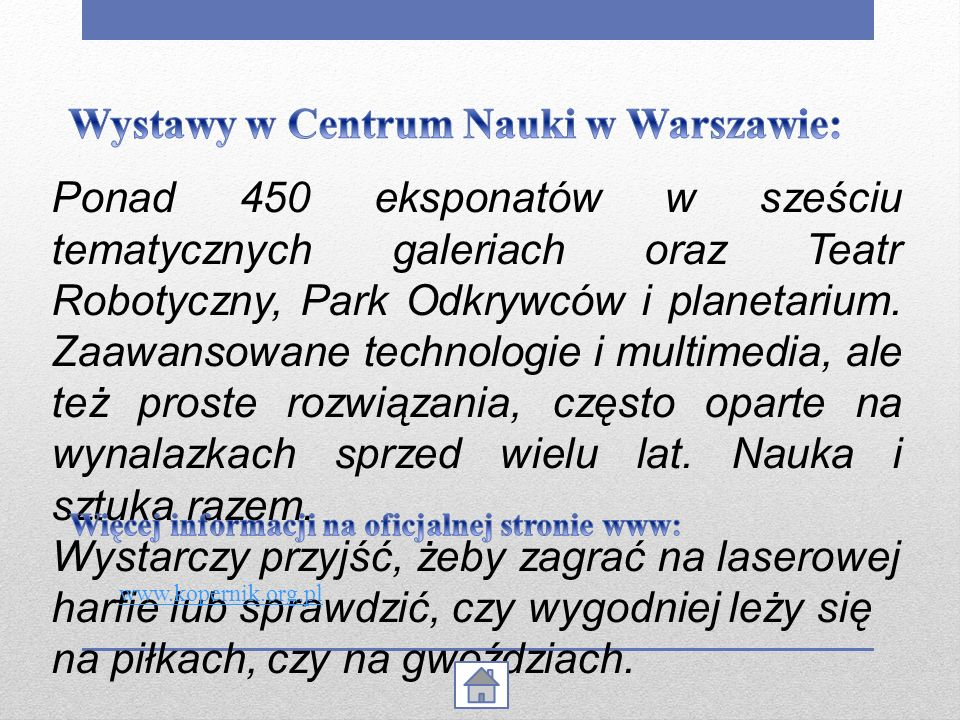 Wystawy w Centrum Nauki w Warszawie: