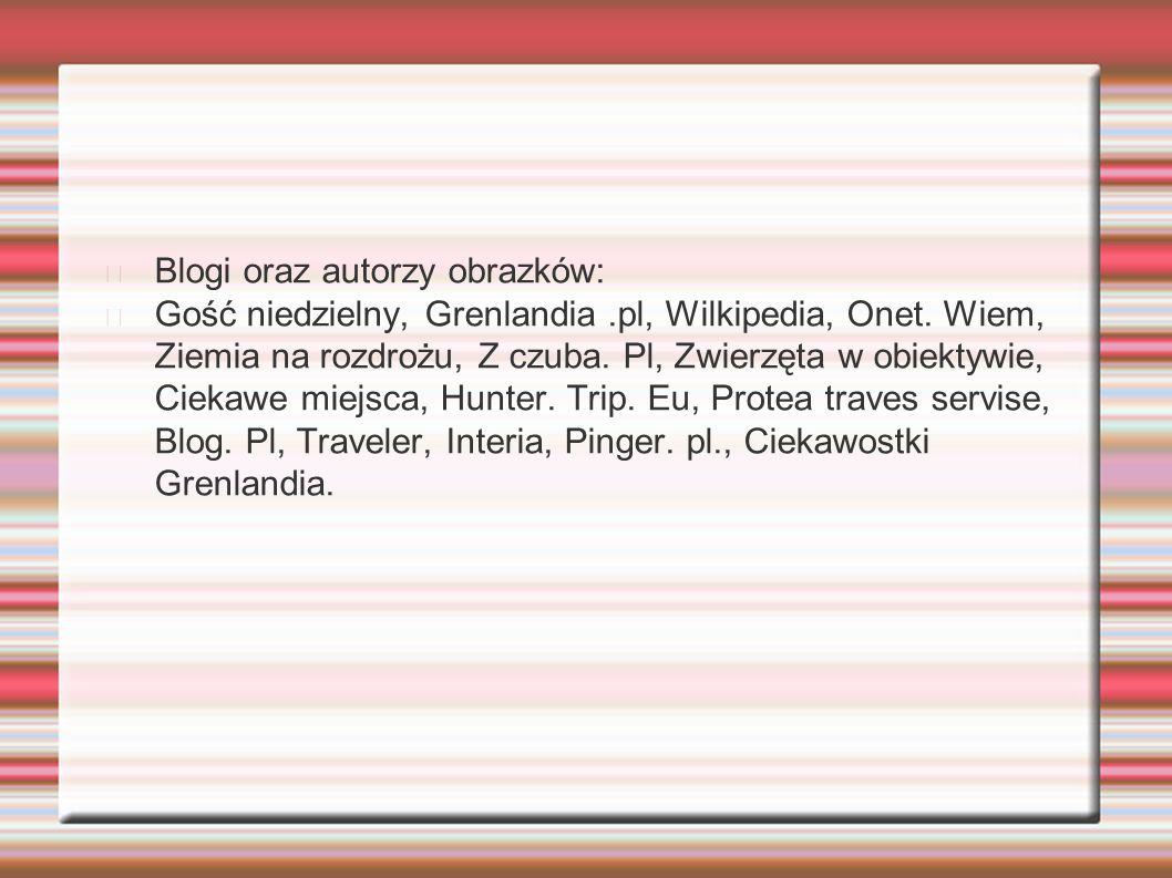 Blogi oraz autorzy obrazków: