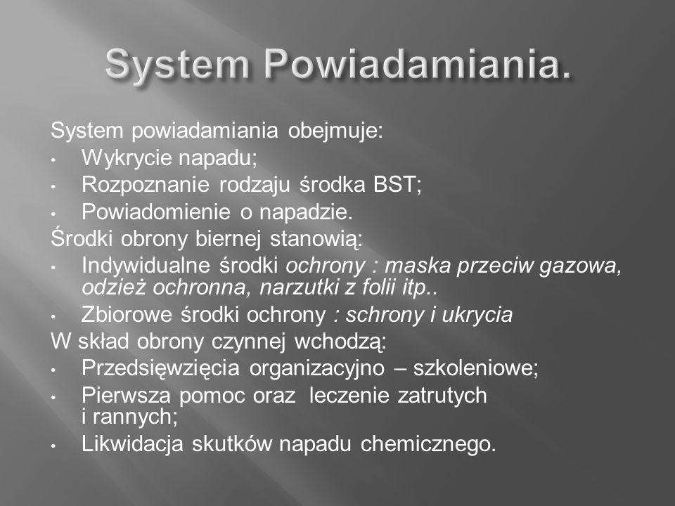 System Powiadamiania. System powiadamiania obejmuje: Wykrycie napadu;
