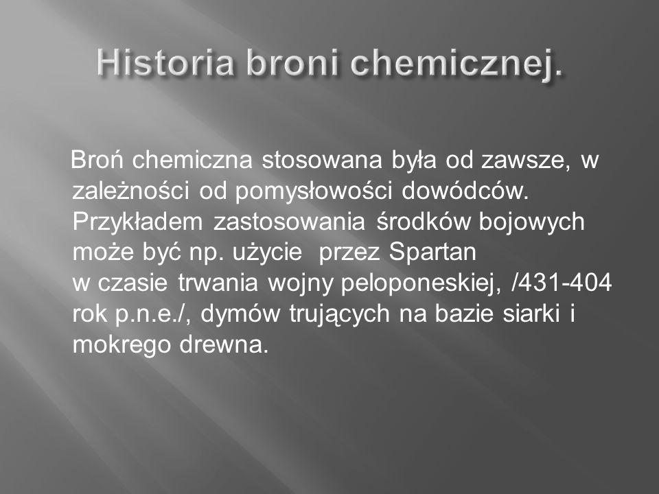 Historia broni chemicznej.