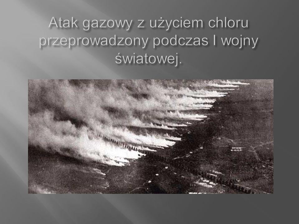 Atak gazowy z użyciem chloru przeprowadzony podczas I wojny światowej.