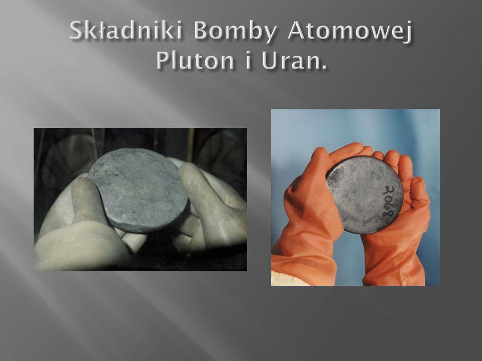 Składniki Bomby Atomowej Pluton i Uran.