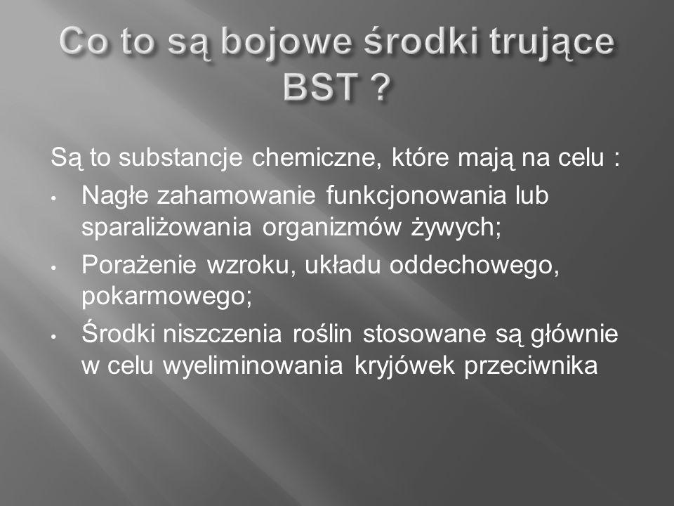 Co to są bojowe środki trujące BST