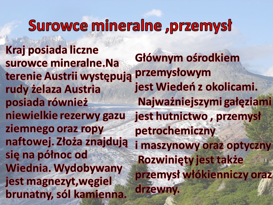 Surowce mineralne ,przemysł