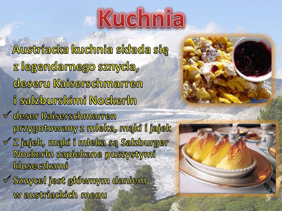 Austriacka kuchnia składa się