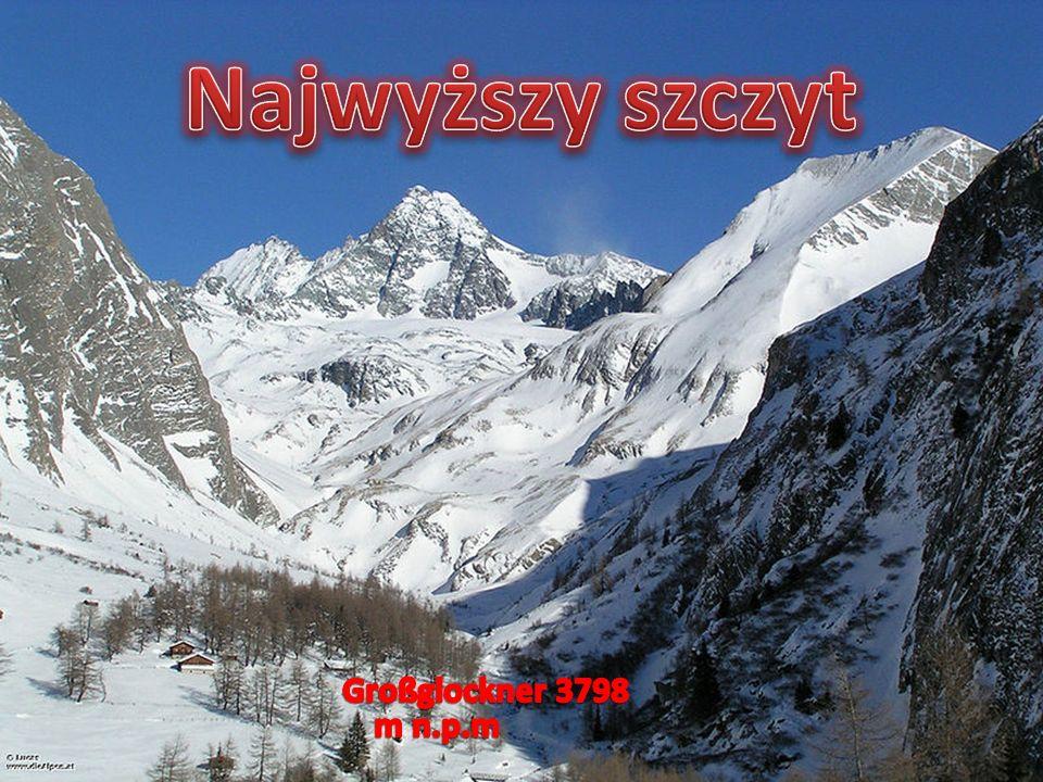 Najwyższy szczyt Großglockner 3798 m n.p.m