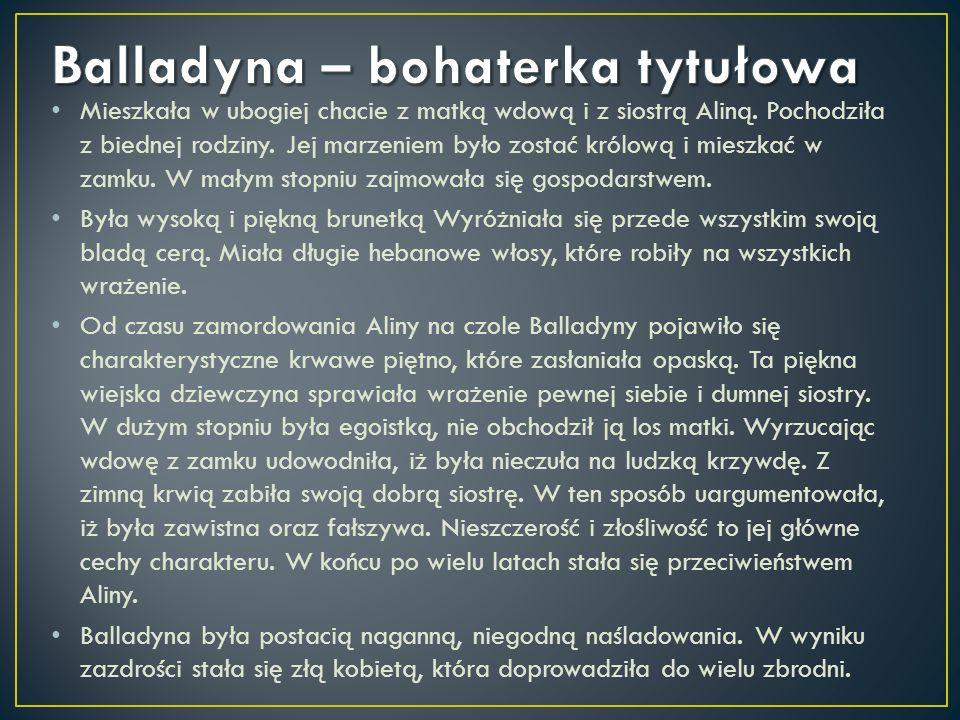 Balladyna – bohaterka tytułowa