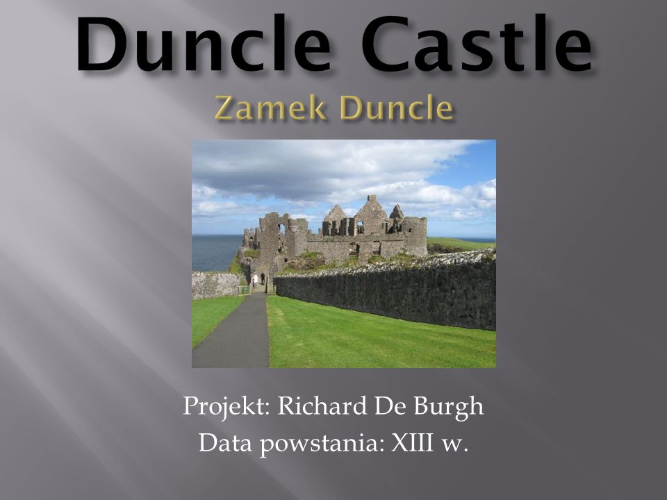 Duncle Castle Zamek Duncle