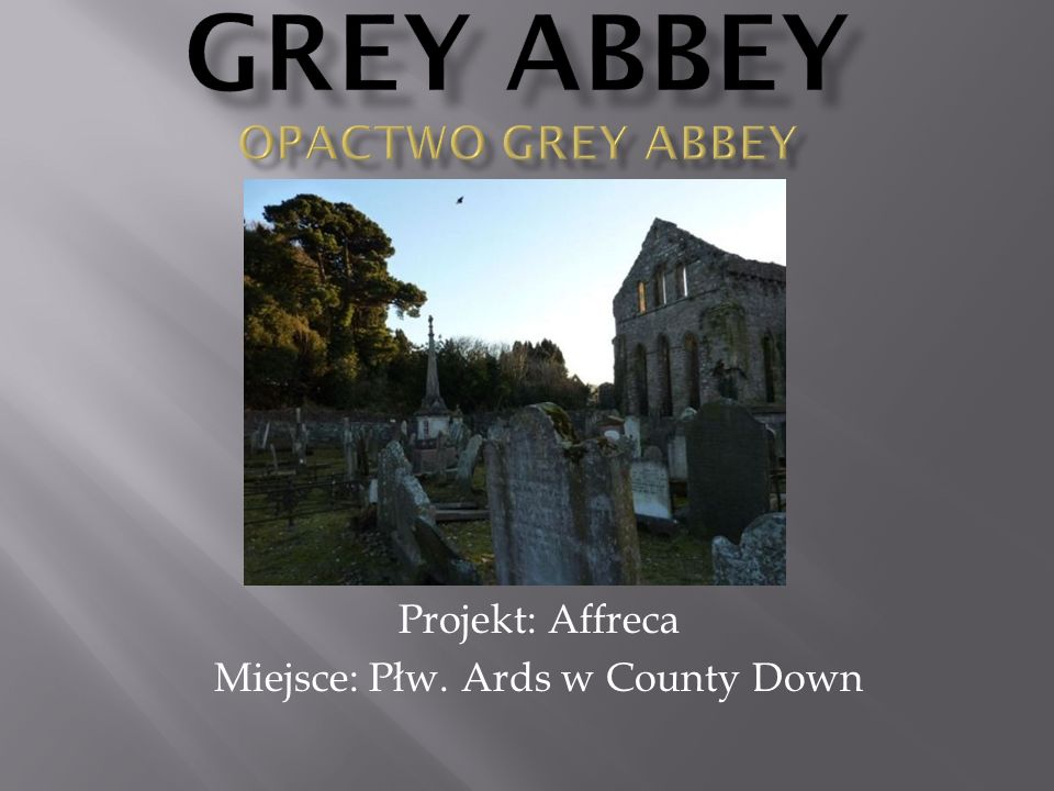 Grey Abbey Opactwo Grey Abbey