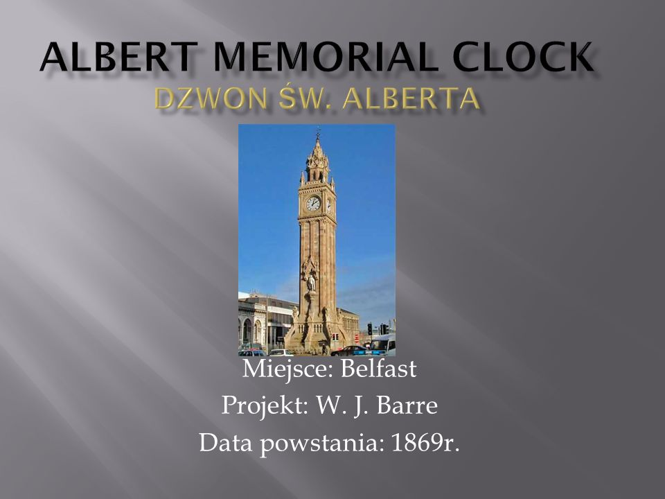 Albert Memorial Clock Dzwon św. Alberta