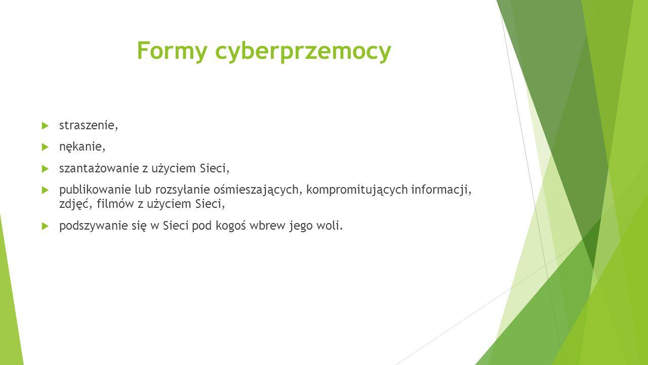 Formy cyberprzemocy straszenie, nękanie,