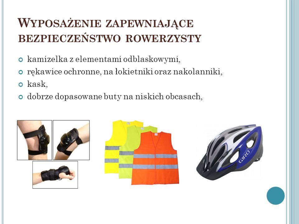Wyposażenie zapewniające bezpieczeństwo rowerzysty