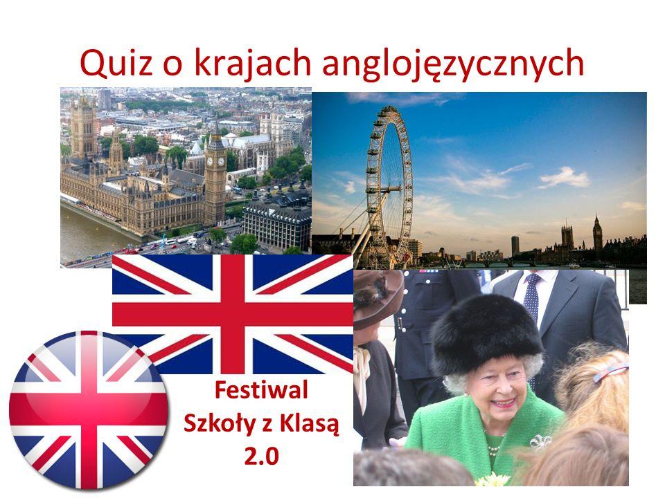 Quiz o krajach anglojęzycznych