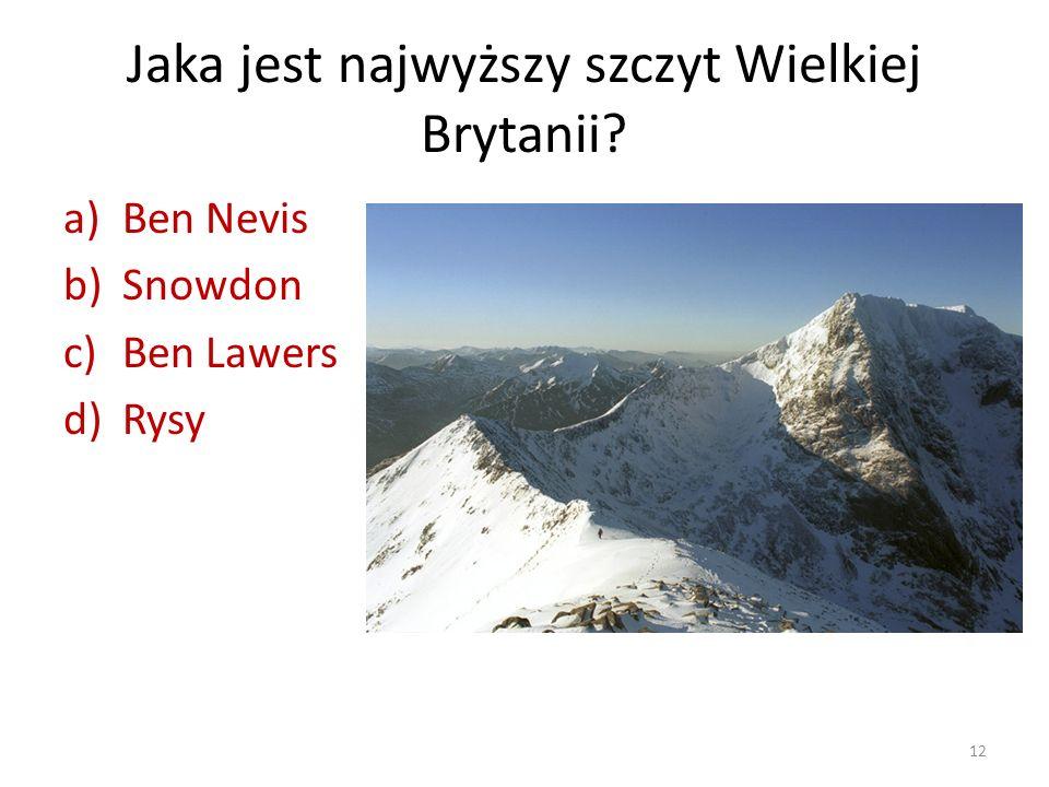 Jaka jest najwyższy szczyt Wielkiej Brytanii