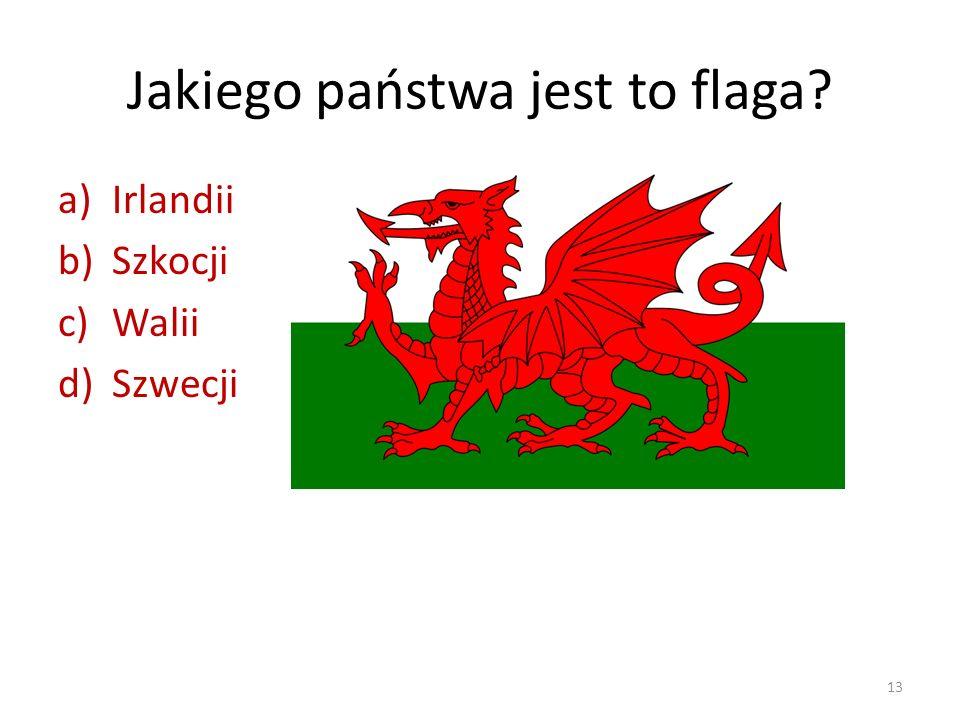 Jakiego państwa jest to flaga
