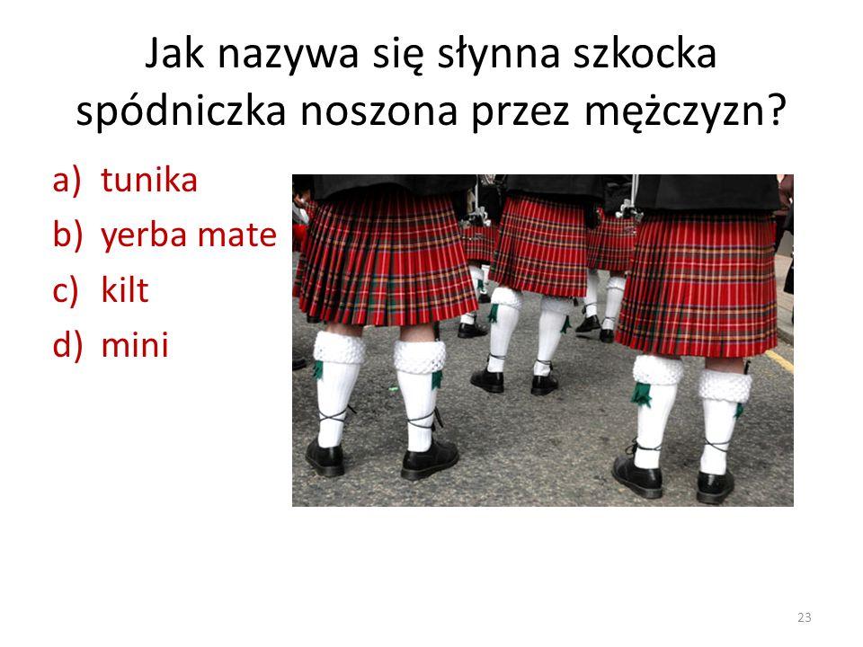 Jak nazywa się słynna szkocka spódniczka noszona przez mężczyzn