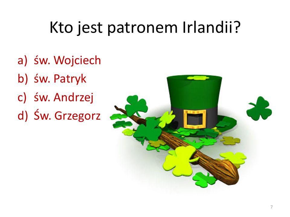 Kto jest patronem Irlandii