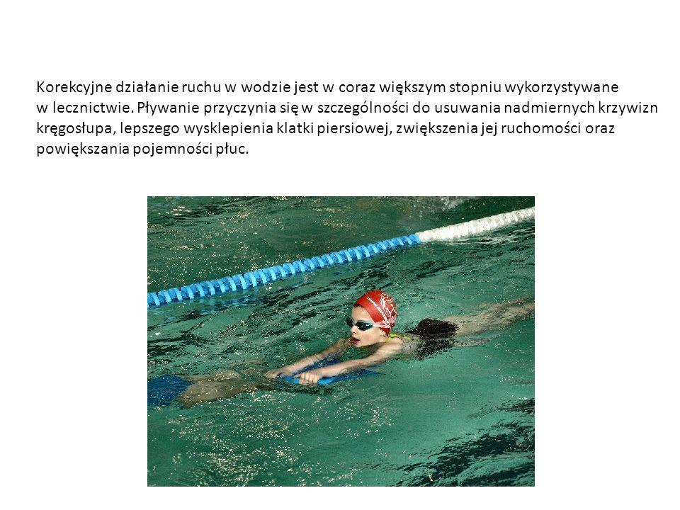 Korekcyjne działanie ruchu w wodzie jest w coraz większym stopniu wykorzystywane
