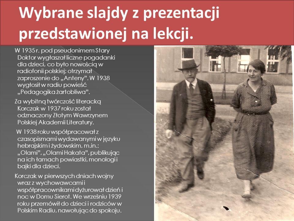 Wybrane slajdy z prezentacji przedstawionej na lekcji.