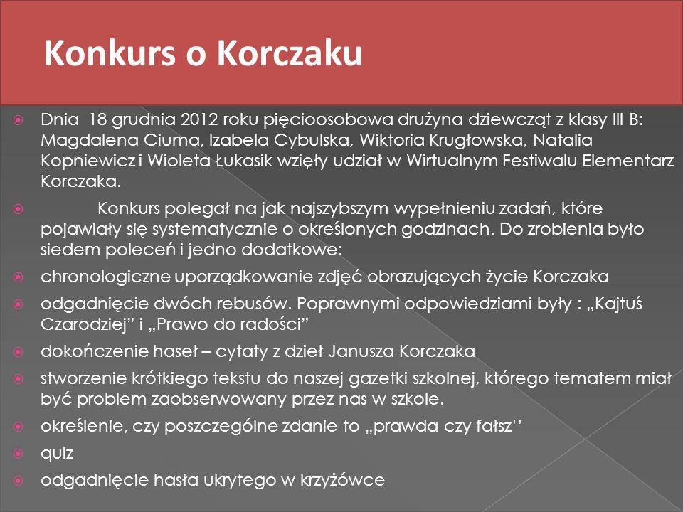 Konkurs o Korczaku