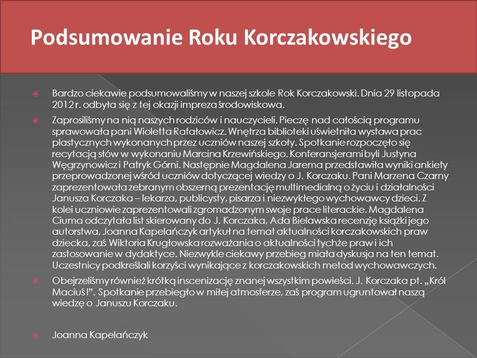 Podsumowanie Roku Korczakowskiego