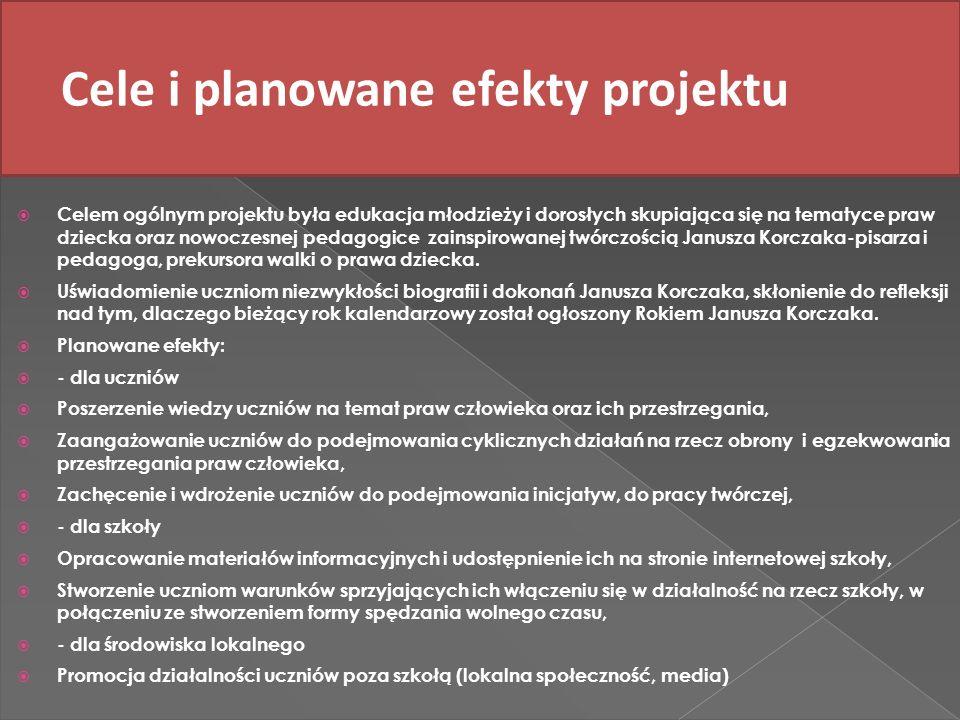 Cele i planowane efekty projektu