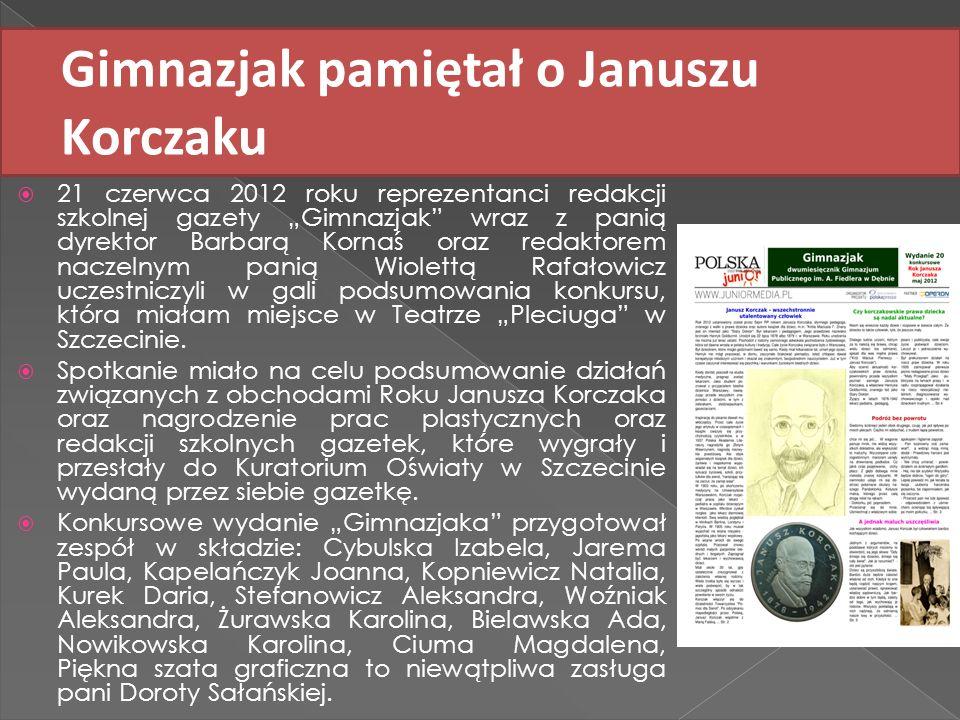 Gimnazjak pamiętał o Januszu Korczaku