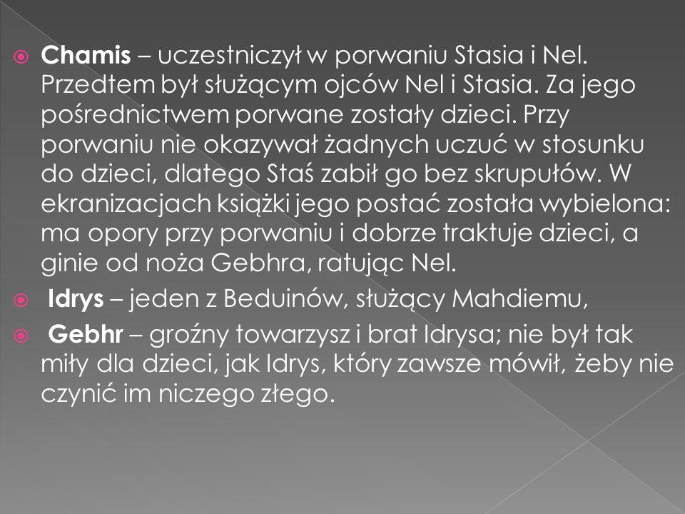 Chamis – uczestniczył w porwaniu Stasia i Nel