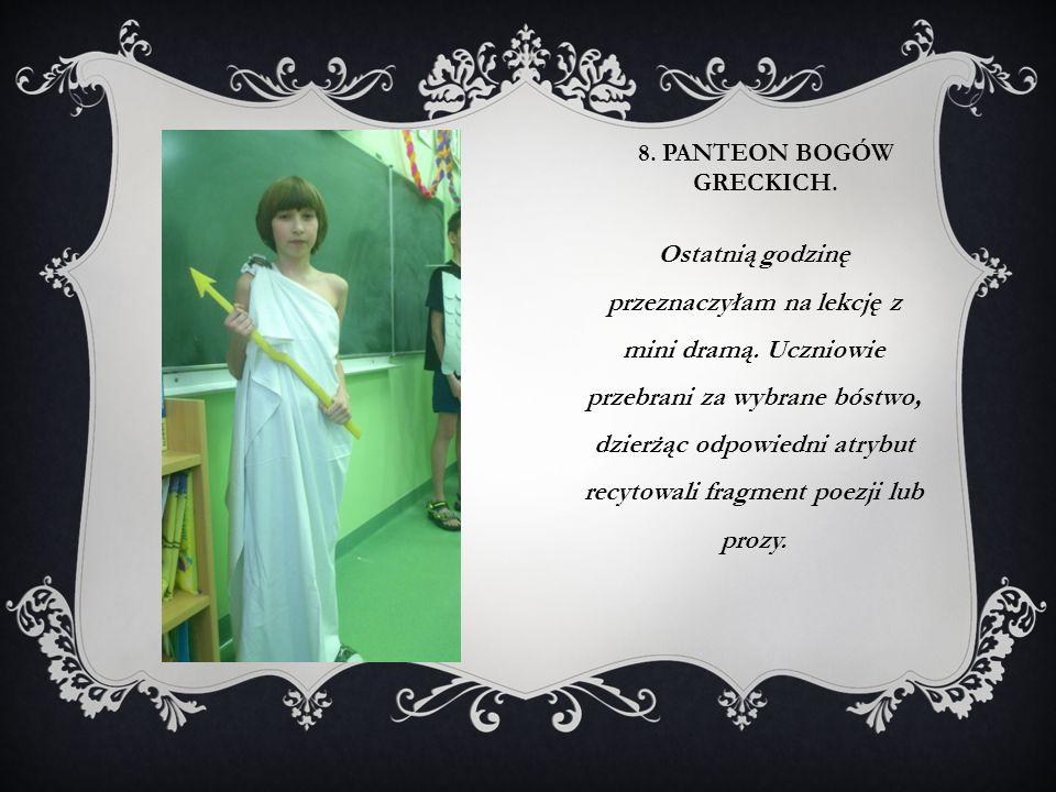 8. Panteon bogów greckich.