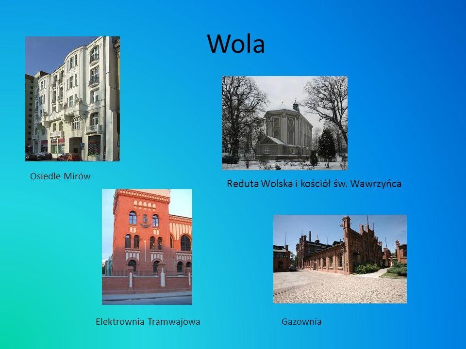 Wola Reduta Wolska i kościół św. Wawrzyńca Osiedle Mirów