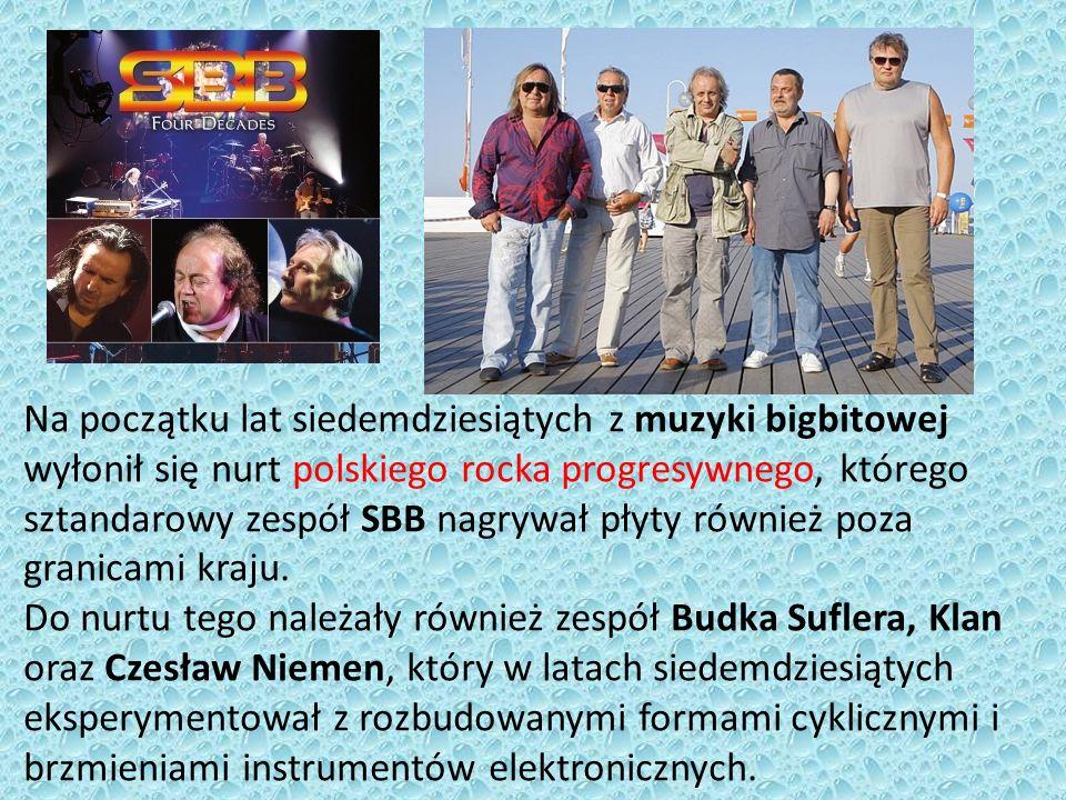 Na początku lat siedemdziesiątych z muzyki bigbitowej wyłonił się nurt polskiego rocka progresywnego, którego sztandarowy zespół SBB nagrywał płyty również poza granicami kraju.