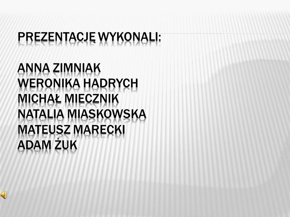 Prezentację wykonali: Anna Zimniak Weronika Hadrych Michał Miecznik Natalia Miaskowska Mateusz Marecki Adam Żuk