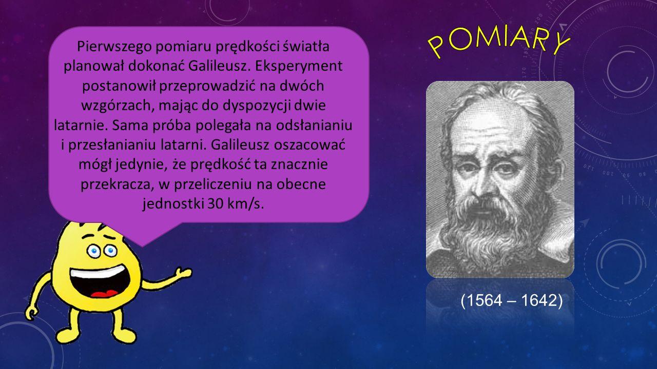 Pierwszego pomiaru prędkości światła planował dokonać Galileusz