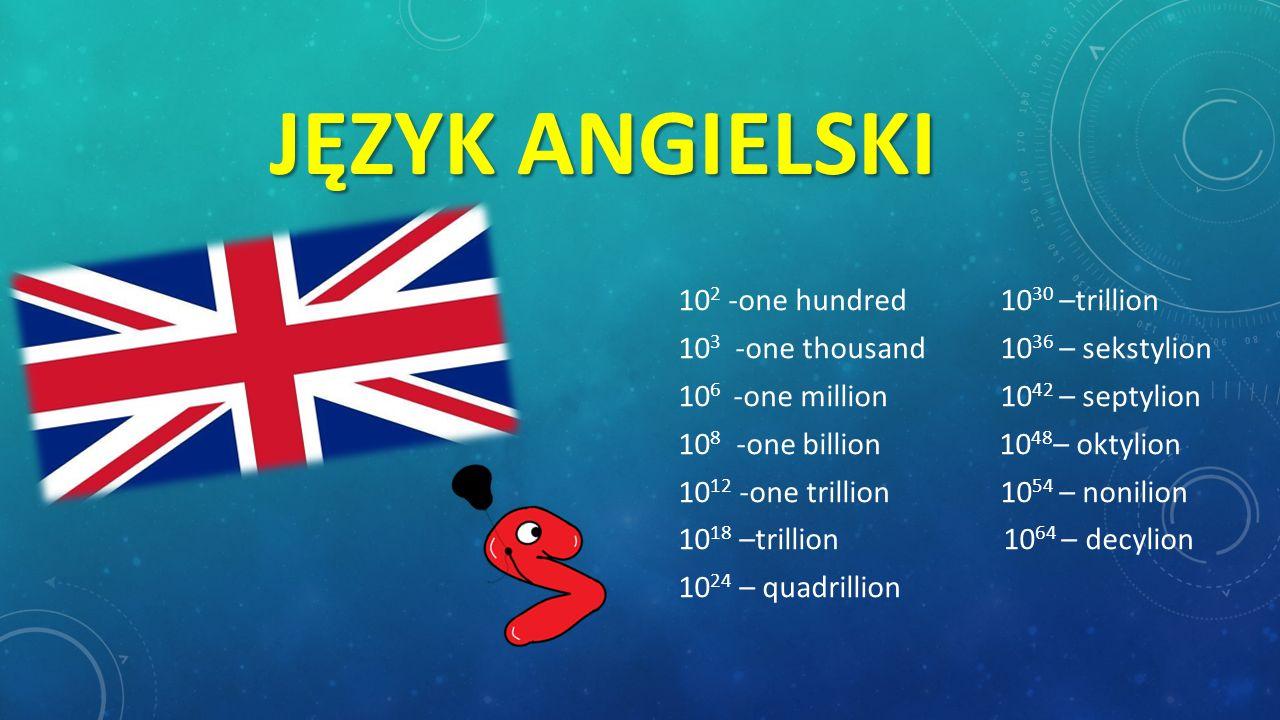Język angielski 103 -one thousand 1036 – sekstylion
