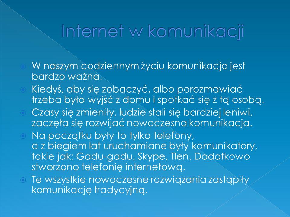 Internet w komunikacji