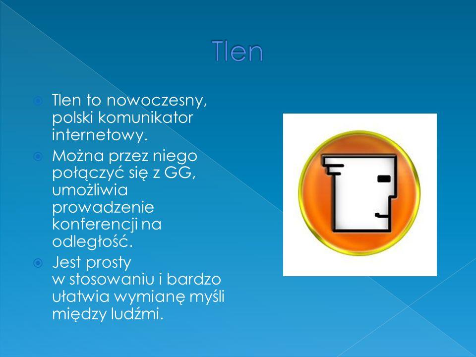 Tlen Tlen to nowoczesny, polski komunikator internetowy.