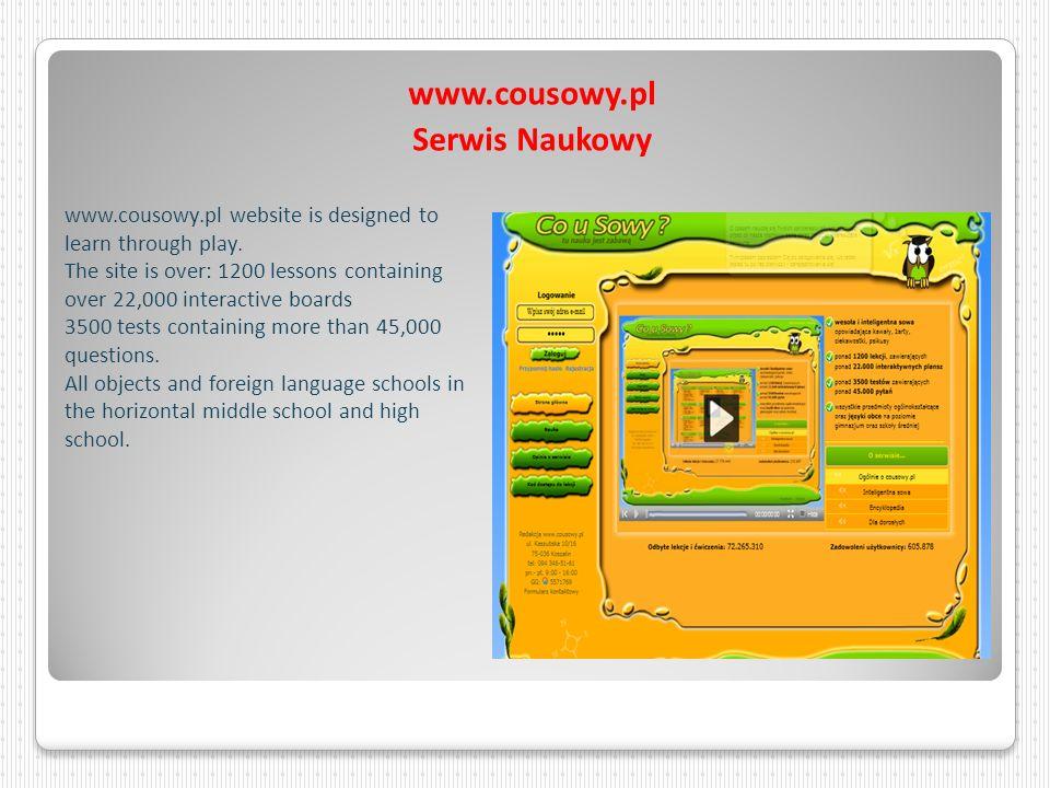 www.cousowy.pl Serwis Naukowy