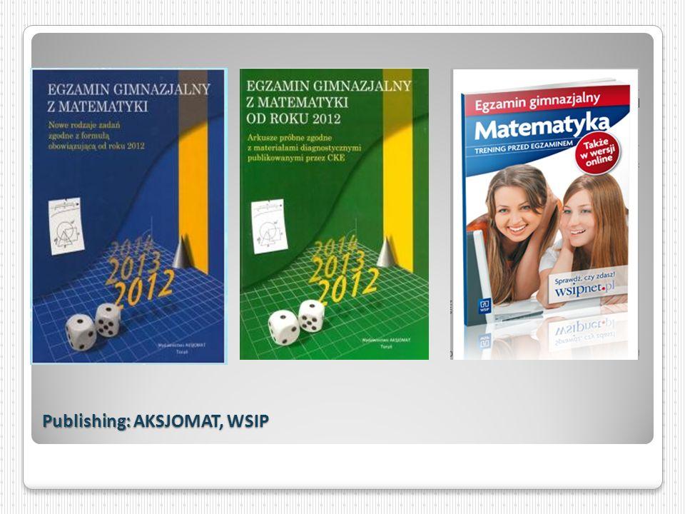 Publishing: AKSJOMAT, WSIP