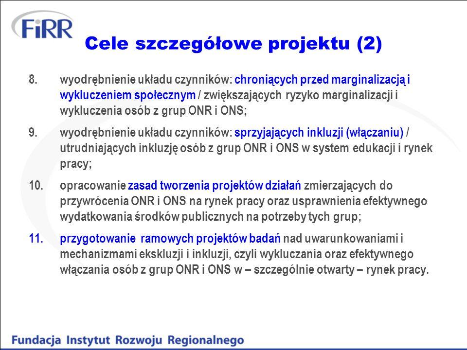 Cele szczegółowe projektu (2)