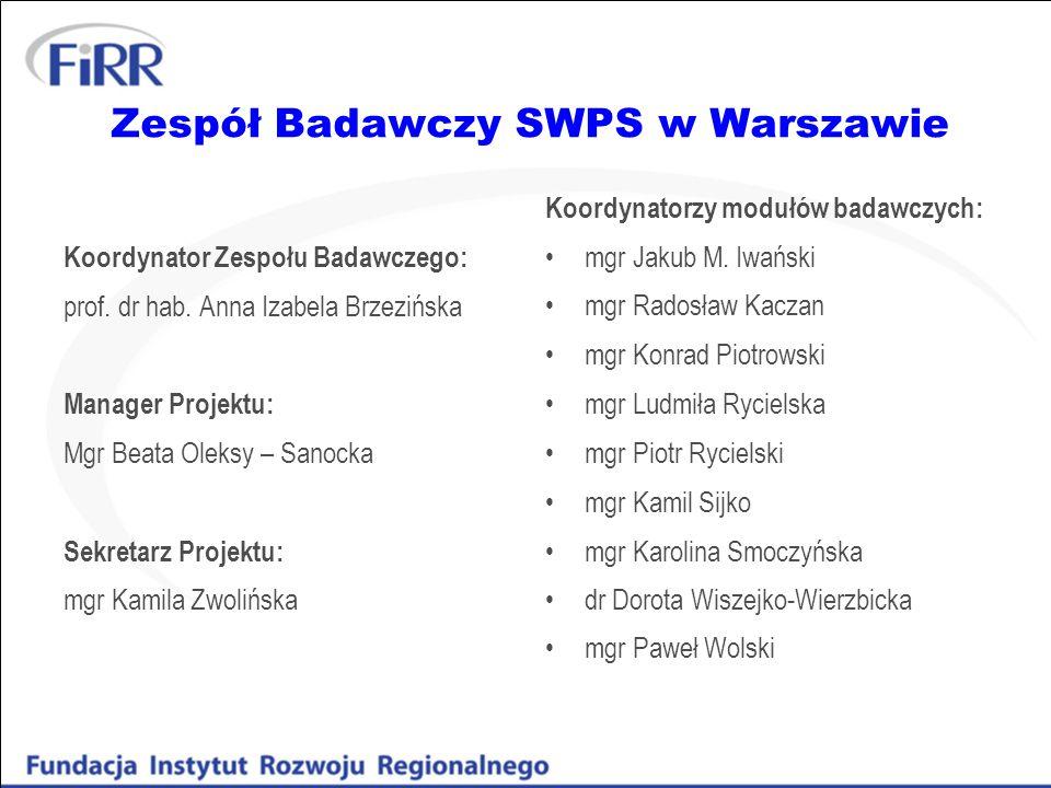 Zespół Badawczy SWPS w Warszawie
