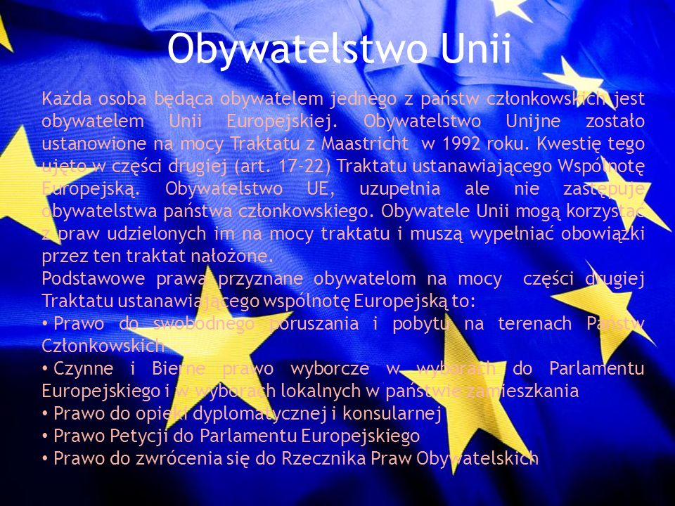 Obywatelstwo Unii