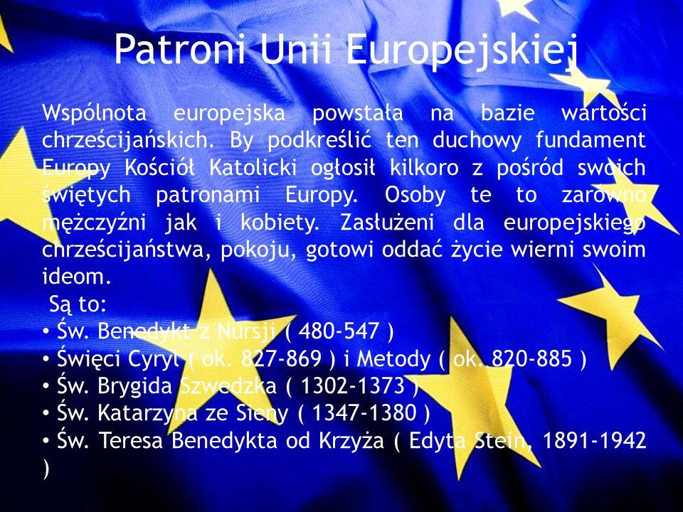 Patroni Unii Europejskiej
