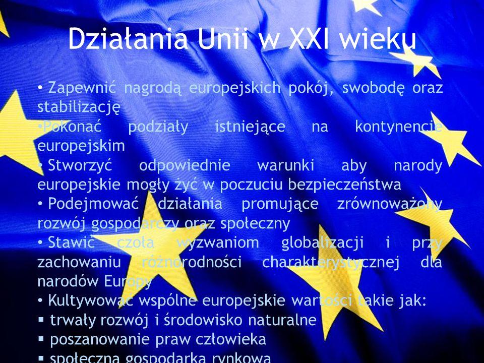 Działania Unii w XXI wieku
